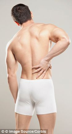 Sciatica causes shooting pains in the lower back or more commonly down one leg