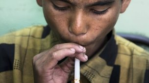 Smoking is one of the top health risks in the developing world
