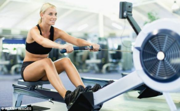 The study shows that going to the gym does not have the same benefits as a long leisurely walk (stock photo)