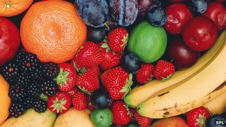 Fruit, such as bananas, and most vegetables and pulses are high in potassium