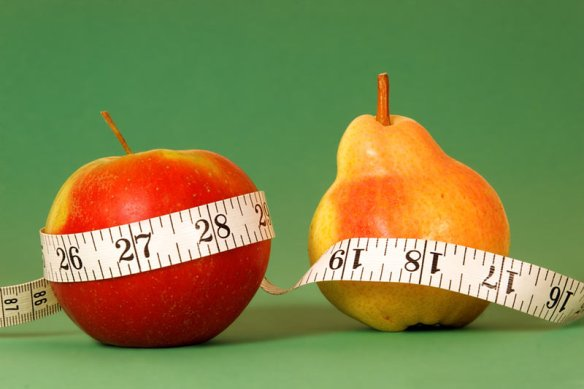Body shape is important for more than clothing style. Researchers have found exess belly fat — as seen in the apple-shaped body, as opposed to the pear-shaped body where the fat is lower down on the hips and butt — can increase risk of kidney disease. CREDIT: hatanga | Shutterstock